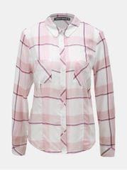 TALLY WEiJL bílo-růžová kostkovaná košile s náprsními kapsami