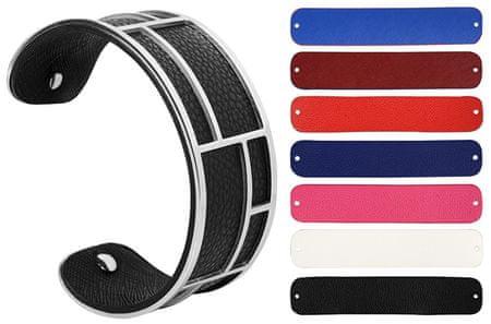 Troli Cserélhető színű acél karkötő 31 mm II.