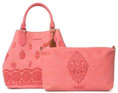 Desigual ženska torbica Bols Paola Florid, rdeča