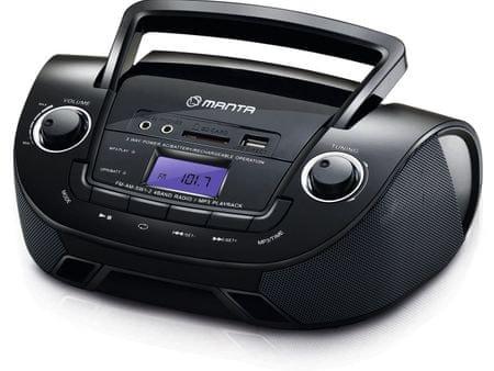 Manta MM9208BT DROP II radio Boombox - Odprta embalaža