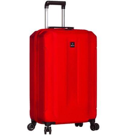 Sirocco Cestovný kufor T-1177/3-S ABS červená