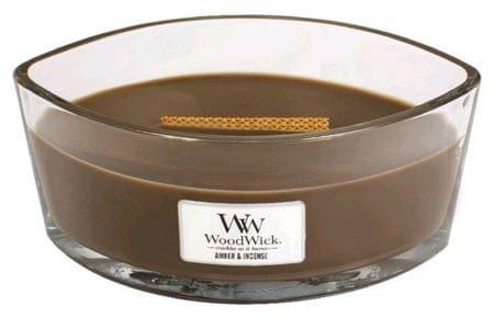 Woodwick Borostyán és füstölő illatgyertya 453,6 g