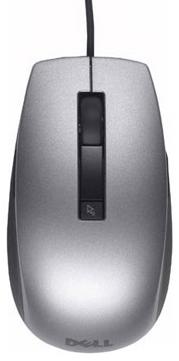 DELL šesťtlačidlová laserová myš, káblová, čiernostrieborná (570-11349)