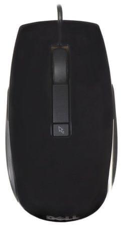 DELL hat gombos lézeres egér, drót, fekete (570-10523)