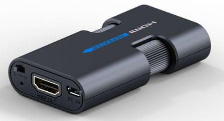 PremiumCord 4K×2K HDMI jelismétlő akár 40 m-es távolságra khrep03