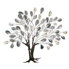 Papillon Kovová nástenná dekorácia Strom, 115 cm