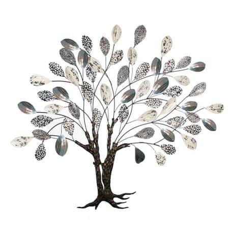 Papillon Kovová nástěnná dekorace Strom, 115 cm