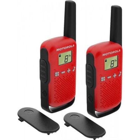 Motorola TLKR T42 walkie-talkie, rdeč