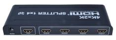 PremiumCord HDMI splitter 1-4 porty, metalowa obudowa, 4K, FULL HD, 3D khsplit4b