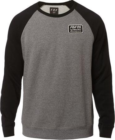 FOX férfi pulóver Resin Crew Fleece XL szürke