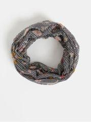 Dorothy Perkins růžovo-modrý pruhovaný šátek s motivem růží