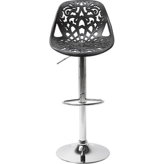 KARE Černá barová židle Ornament