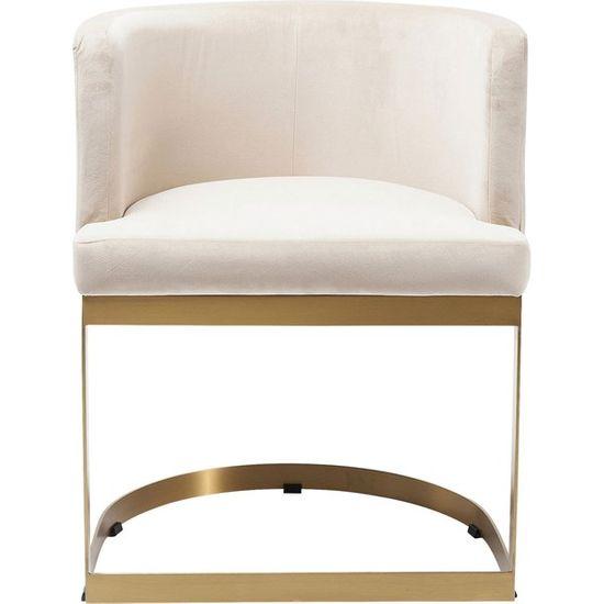 KARE Bílá čalouněná židle s područkami Studio