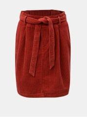ONLY červená manšestrová sukně s mašlí Cord