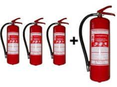 Hastex Práškový hasiaci prístroj 6 kg P6Te - 3+1 zdarma