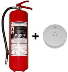 Hastex Sada práškový hasiaci prístroj 6kg P6Th + dymový hlásič požiaru