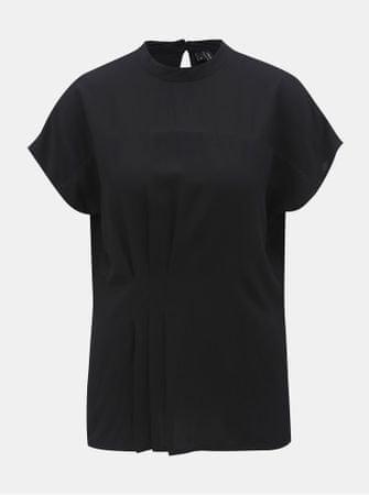 Vero Moda černá halenka s řasením v pase Jaylo M