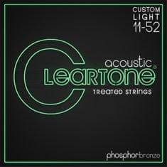 Cleartone Phosphor Bronze 11-52 Custom Light Kovové struny na akustickú gitaru