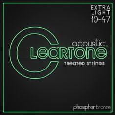 Cleartone Phosphor Bronze 10-47 Extra Light Kovové struny na akustickú gitaru