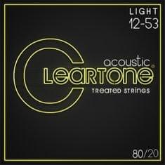 Cleartone 80/20 Bronze 12-53 Light Kovové struny na akustickú gitaru