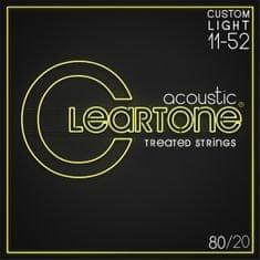 Cleartone 80/20 Bronze 11-52 Custom Light Kovové struny na akustickú gitaru