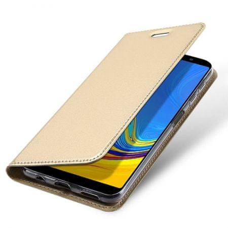 torbica za Samsung Galaxy J4 Plus J415, preklopna, zlatna