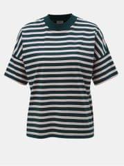 Jacqueline de Yong růžovo-zelené pruhované tričko Maike