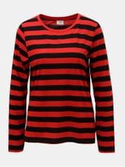 Jacqueline de Yong černo-červené pruhované basic tričko Rosa