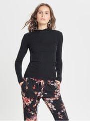 Jacqueline de Yong černý lehký žebrovaný svetr