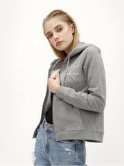 Calvin Klein Jeans šedá dámská mikina na zip