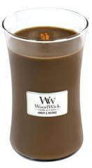 Woodwick dišeča sveča Ambra in kadilo, 609,5 g