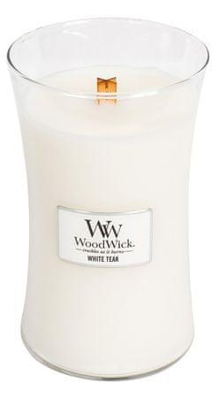 Woodwick dišeča sveča Beli teak, 609,5 g