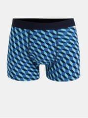 Happy Socks modré vzorované boxerky Filled Optic