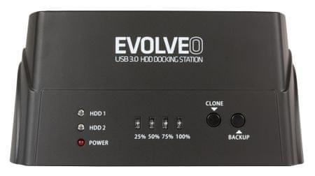 Evolveo Dion 3.0 HDD dokkoló állomás, USB 3.0 D4U3P