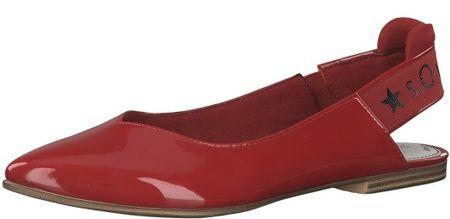 s.Oliver dámské sandály 40 červená