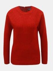 Dorothy Perkins Tall červený svetr se zipem na zádech