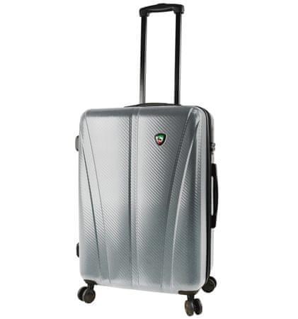 Mia Toro Utazó bőrönd M1238/3-M ezüst