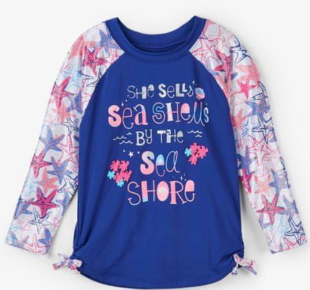 Hatley dekliška plavalna majica UV 50+, 116, modra
