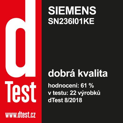 Siemens SN236I01KE ocenění v časopise dTest