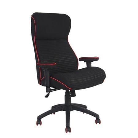 Pisarniški stol Florda, črno rdeč