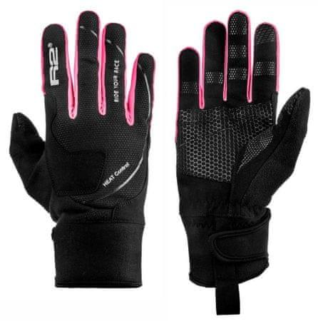 R2 rokavice Blizzard, črne/roza, 8