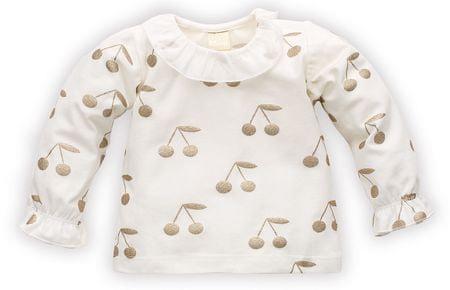 PINOKIO bluza dziewczęca z czereśniami 68 kremowa