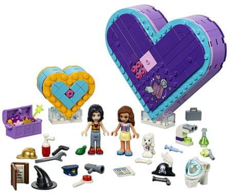 LEGO zestaw Friends 41359 - Pudełko w kształcie serca - zestaw przyjaźni