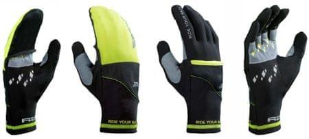 R2 rękawice uniwersalne Cover Black/Neon Yellow 7
