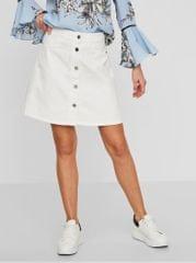 Noisy May bílá džínová sukně s knoflíky Sunny