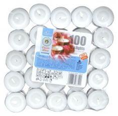 M.A.T Group čajová sviečka biela 100 ks
