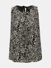 Jacqueline de Yong černo-béžová halenka s leopardím vzorem a průstřihy na zádech Abigail