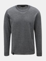 Makia šedý pánský lehký svetr z Merino vlny Merino