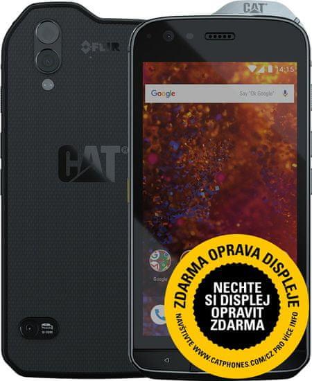 CAT S61, 4GB/64GB, termokamera, snímač kvality vzduchu, laserové měření + powerbank CAT 10000 mAh ZDARMA!