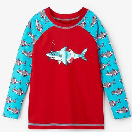 Hatley majica za kupanje za dječake UV 50+, crvena/plava, 92